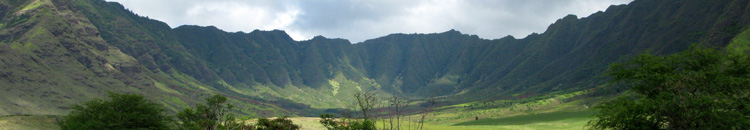 Panoramic view of Makua valley.