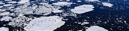 Photo of Arctic ice. Florian Schulz / visionsofthewild.com.