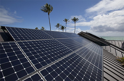 Solar panel installation in Hawaii.