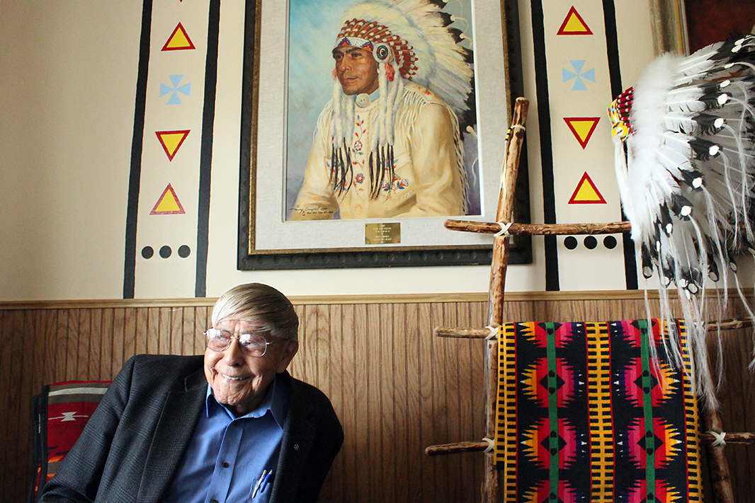 In 1978, Earl Old Person was named chief of the Blackfeet Nation, a lifetime position.