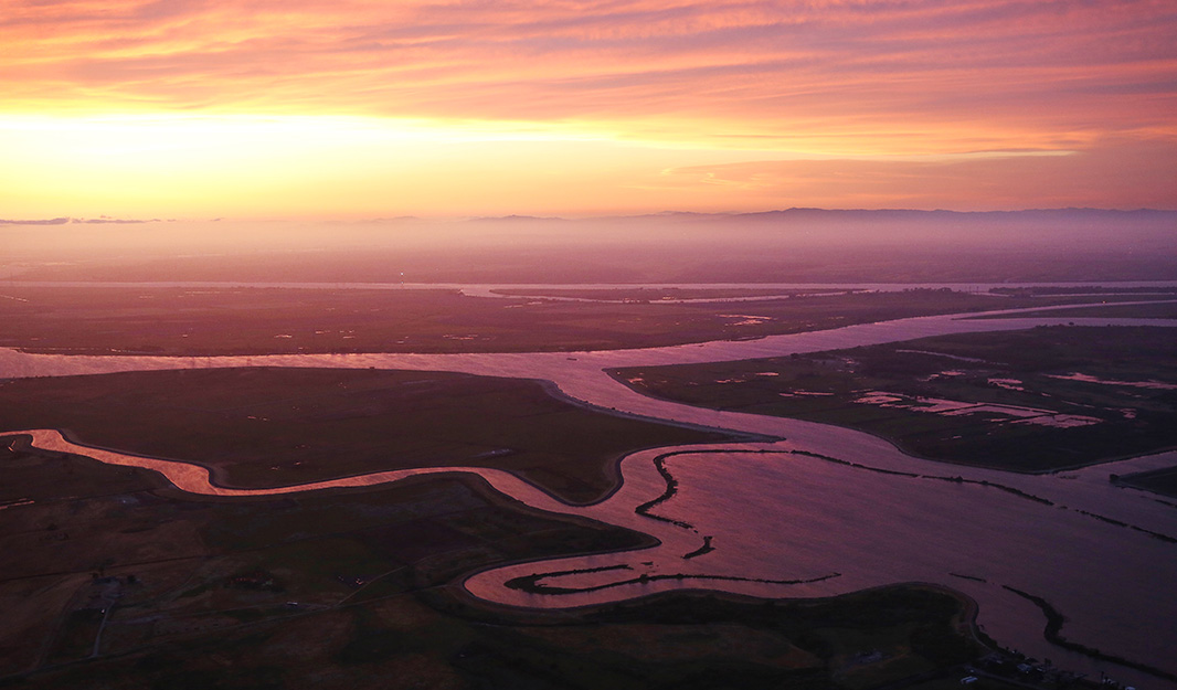 The Sacramento and the San Joaquin Rivers meet in the Delta in Northern California, April 20, 2015.