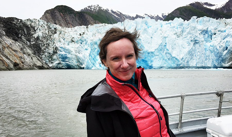 Abigail Dillen traveled to Alaska, accompanying a team including Marie Claire's Creative Director Nina Garcia, author and journalist Kimberly Cutter, National Geographic photographer and conservationist Pete McBride to elevate consciousness on the urgent need for climate action.