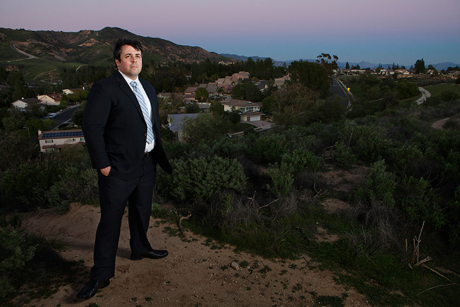 Staff Attorney Adrian Martinez in Porter Ranch, California.