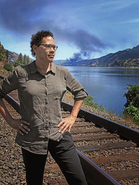 On June 3, Adrienne Bloch was speaking at a meeting nearby when a Union Pacific train carrying volatile Bakken crude oil derailed in the town of Mosier, Oregon, along the Columbia River.