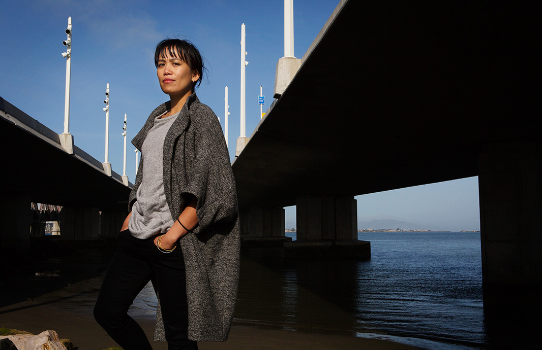 Gutierrez, at the eastern end of Bay Bridge, near where the new terminal is being built. She has spoken at both city and state political hearings on this issue.
