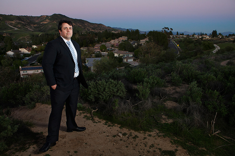 Adrian Martinez, Staff Attorney in the Los Angeles location of the California office, at Porter Ranch, California. Martinez assisted Porter Ranch community members as they went before the South Coast Air Quality Management District hearing board.