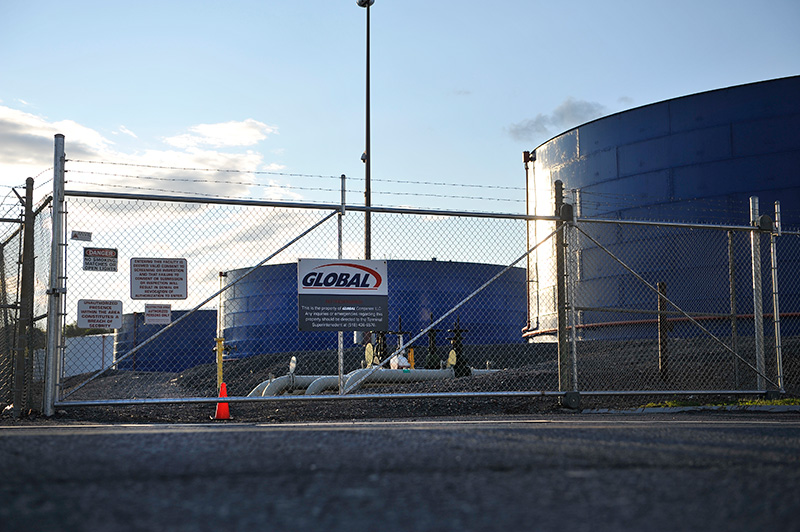 Storage tanks at the Global Partners facility.