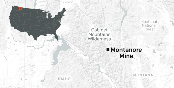 Map of Montanore Mine.