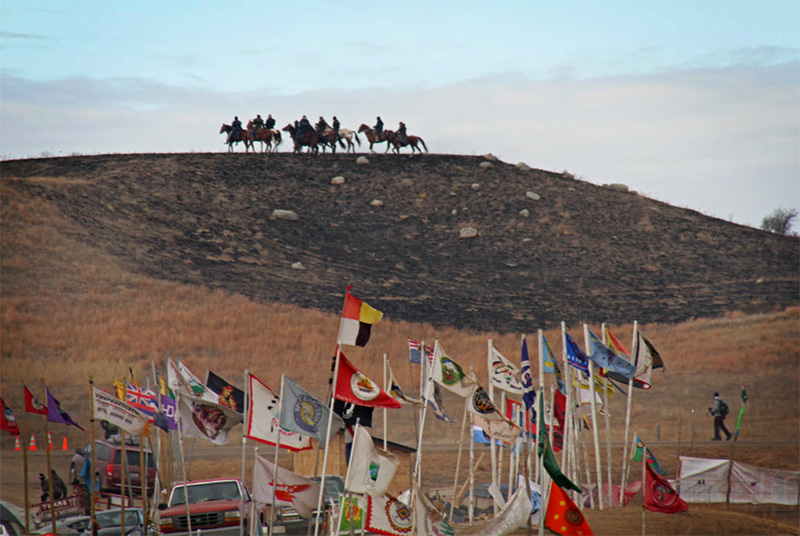 The Oceti Sakowin camp in December.
