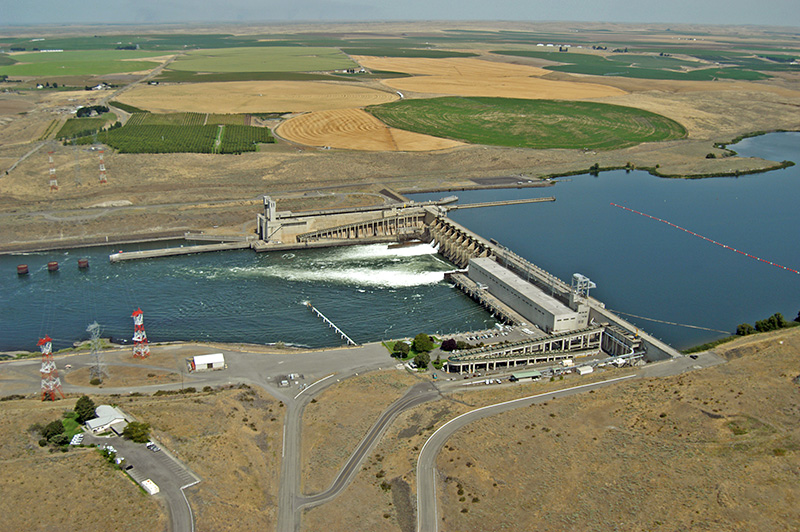 Ice Harbor, one of the four dams on the lower Snake River.