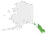 Location map of Tongass National Forest.