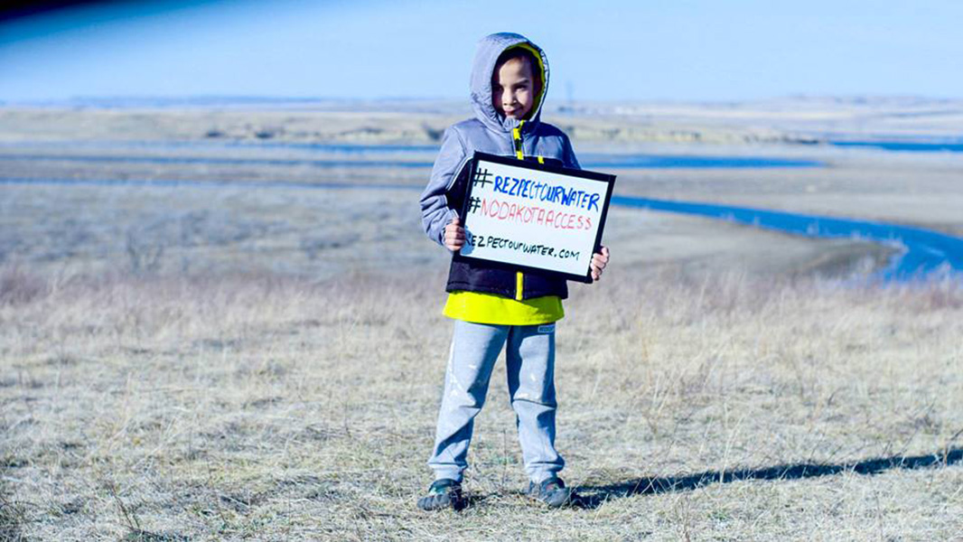 Young supporters of the Standing Rock Sioux Tribe.