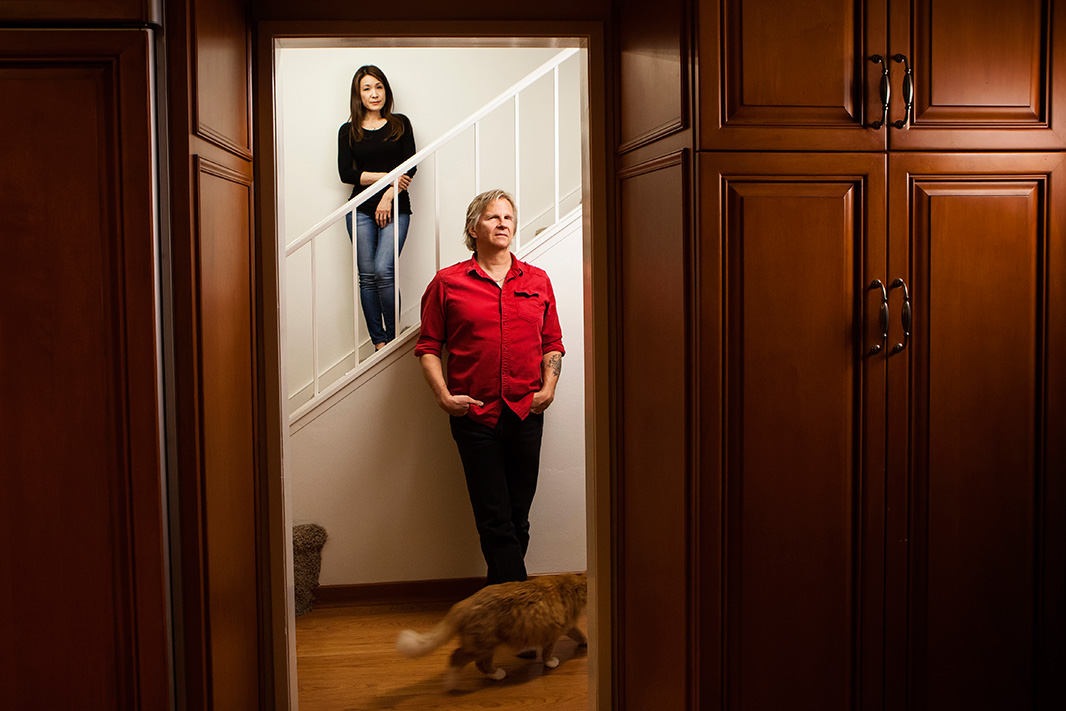 Kyoko Hibino and Matt Pakucko, in their temporary home in Northridge, California, were among the thousands of people affected by the massive Aliso Canyon methane leak.