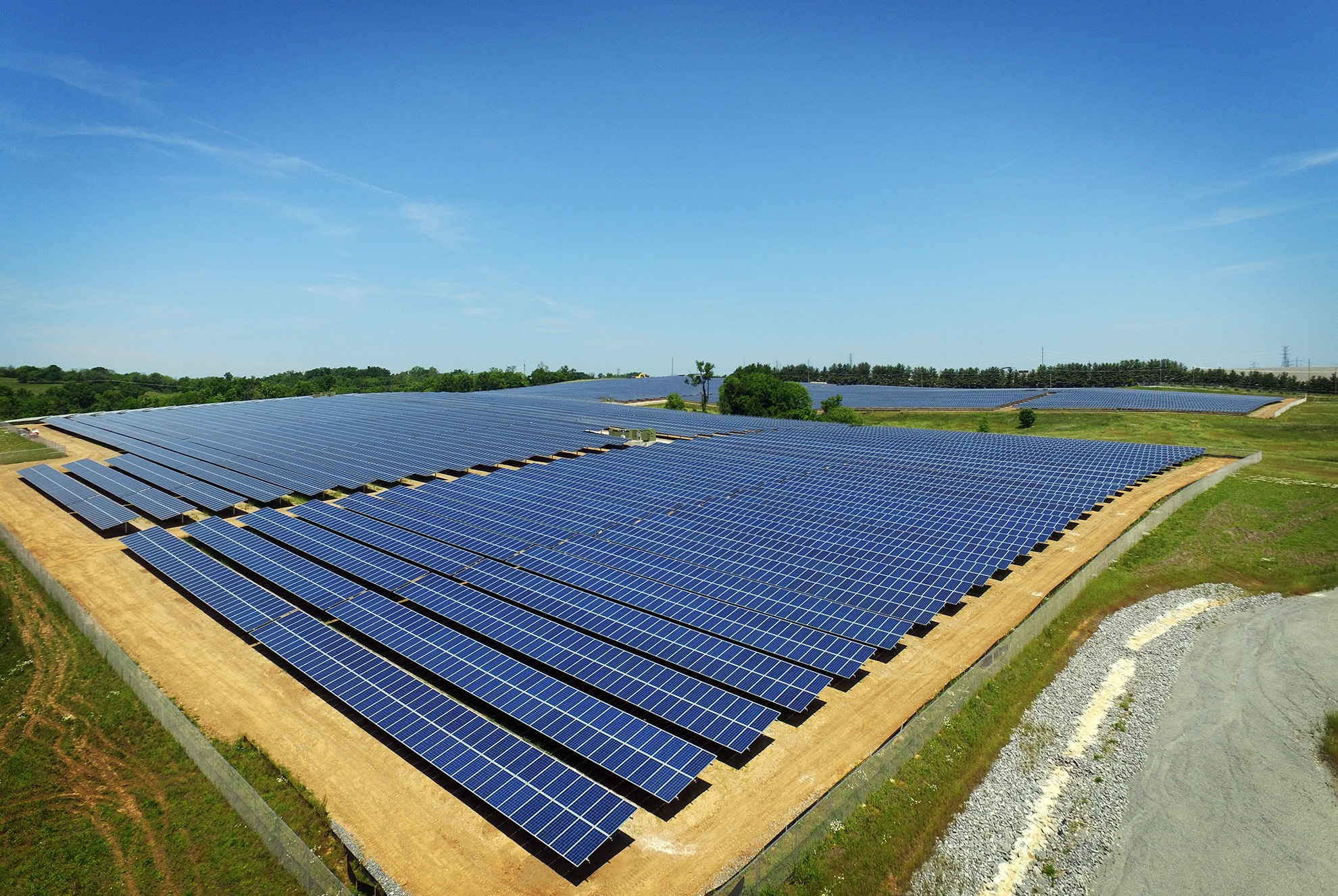 The E.W. Brown Generating Station near Harrodsburg now includes the largest solar farm in Kentucky.