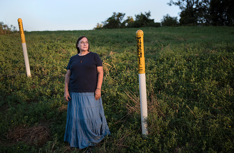 Terri Schumacher lives in Ohio. Fracking around her property has caused numerous problems.
