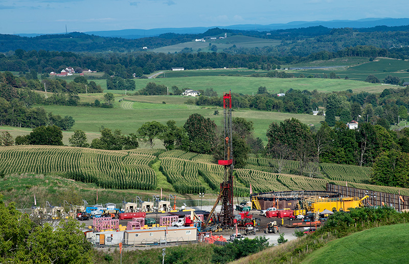 In the Marcellus shale field, Pennsylvania, where unconventional natural gas development is rampant.