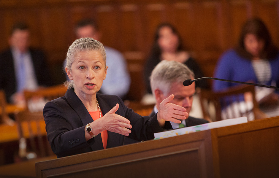 Earthjustice attorney Deborah Goldberg argues before New York State's highest court on a pivotal case involving fracking.