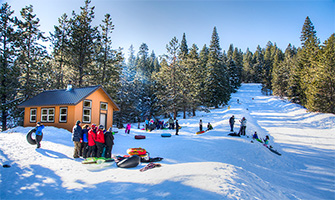 Sledding in the Cascade-Siskiyou National Monument.