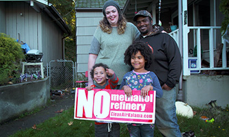 Opponents of the Kalama Methanol Refinery.