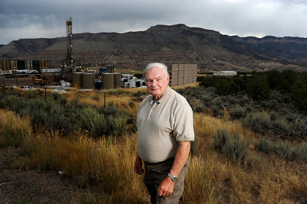 Arrington, near a drilling rig near his home in Battlement Mesa, Colorado, on August 25, 2016.