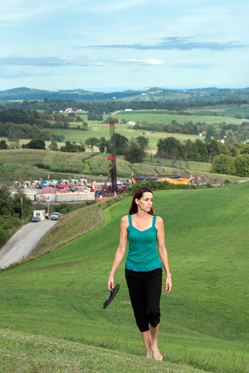 Lois Bower-Bjornson lives in Scenery Hill, Pennsylvania, about 40 minutes south of Pittsburgh. Her home is surrounded by 30 well pads, three compressor stations, and multiple pipelines.