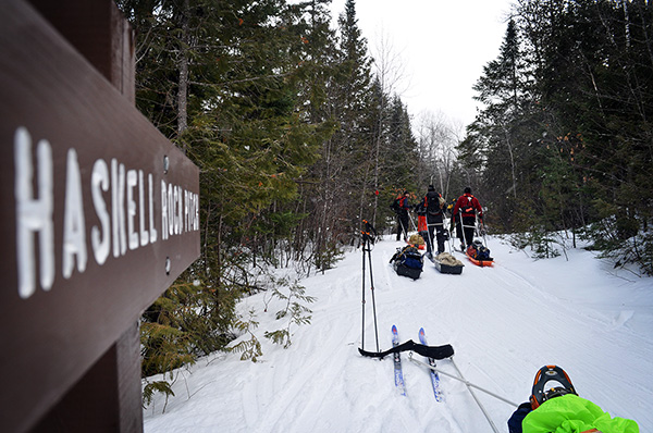 Backcountry skiing, Haskell Rock Pitch, East Branch of Penobscot.