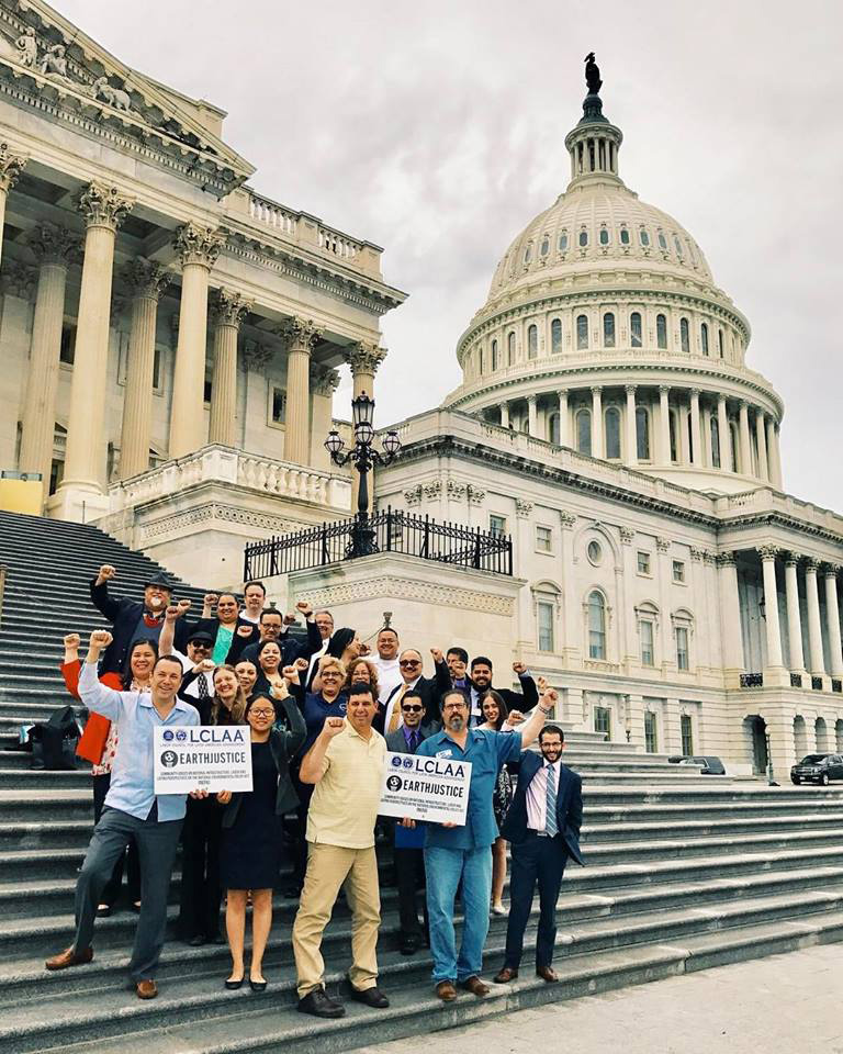 Legislative Counsel Raul Garcia and LCLAA (Labor Council For Latin American Advancement) Chapter Presidents from 15 states, following a day of legislative advocacy in Congress to advance the National Environmental Policy Act and Latino workers' priorities, on June 5, 2017.
