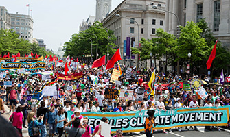 The 2017 Peoples Climate March in Washington, D.C.