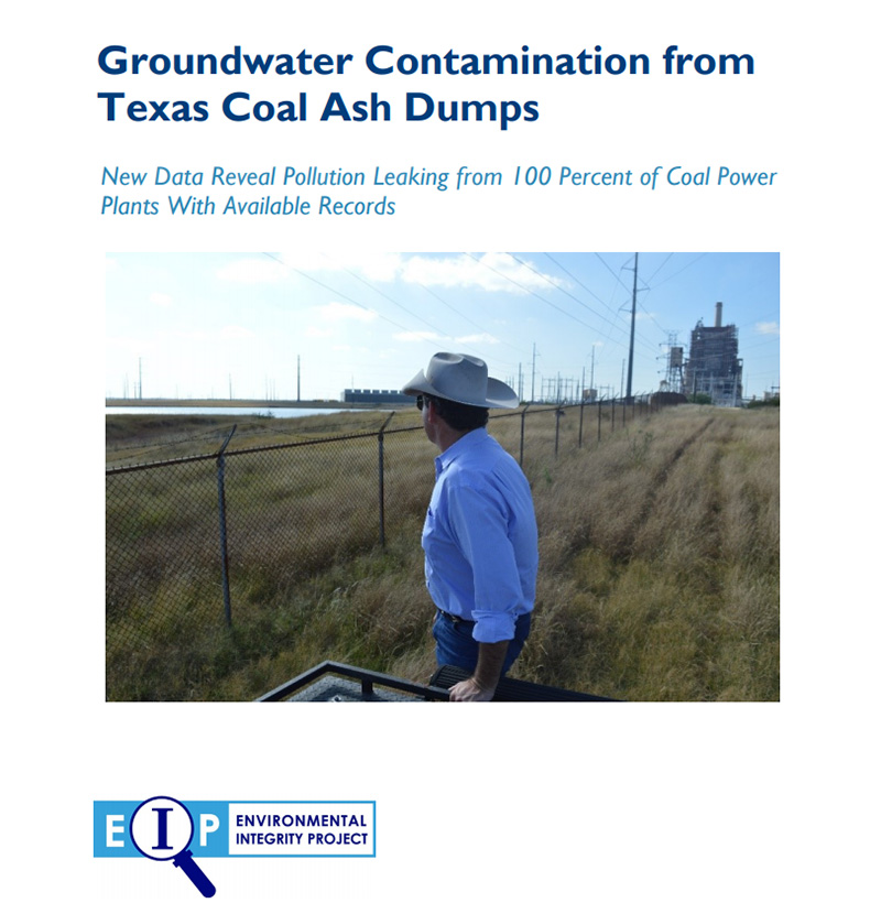Groundwater Contamination from Texas Coal Ash Dumps.
