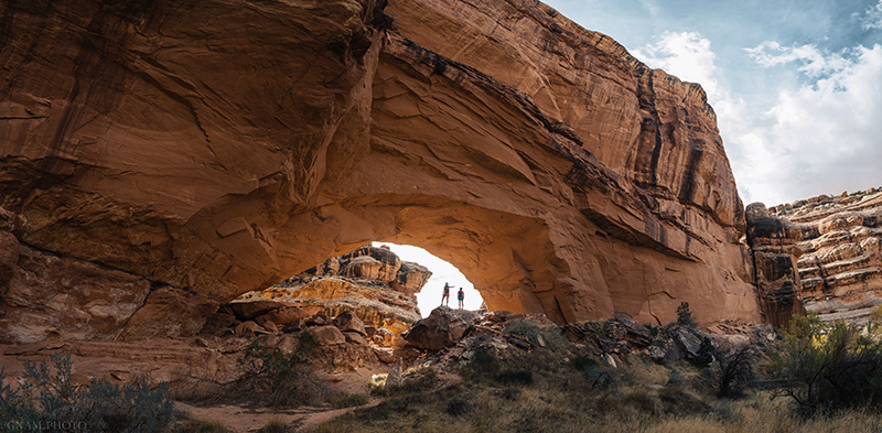 Hikers explore Grand Gulch, Utah, on Nov. 7, 2017.