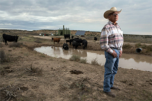 Daniel Tso, a Navajo community leader, has watched as oil and gas operations have encroached more and more on his community's tribal lands. (Steven St. John for Earthjustice)