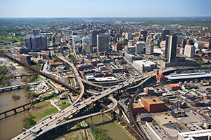 Aerial view of Richmond, Virginia. (Jupiter Images / Getty Images)