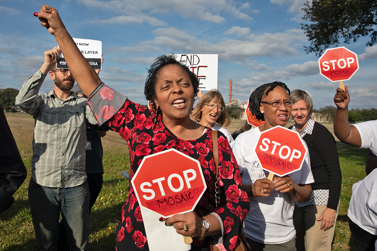 Sharon Lavigne fighting to keep a petrochemical plant out of her Louisiana community.