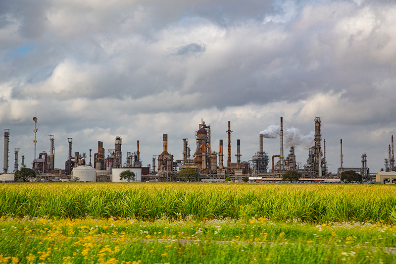Shell Convent refinery in St. James Parish, Louisiana.