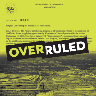 Overruled: Federal Coal Leasing.