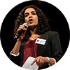 Varshini Prakash, speaking at the Climate State of the Union on Jan. 31, 2018.