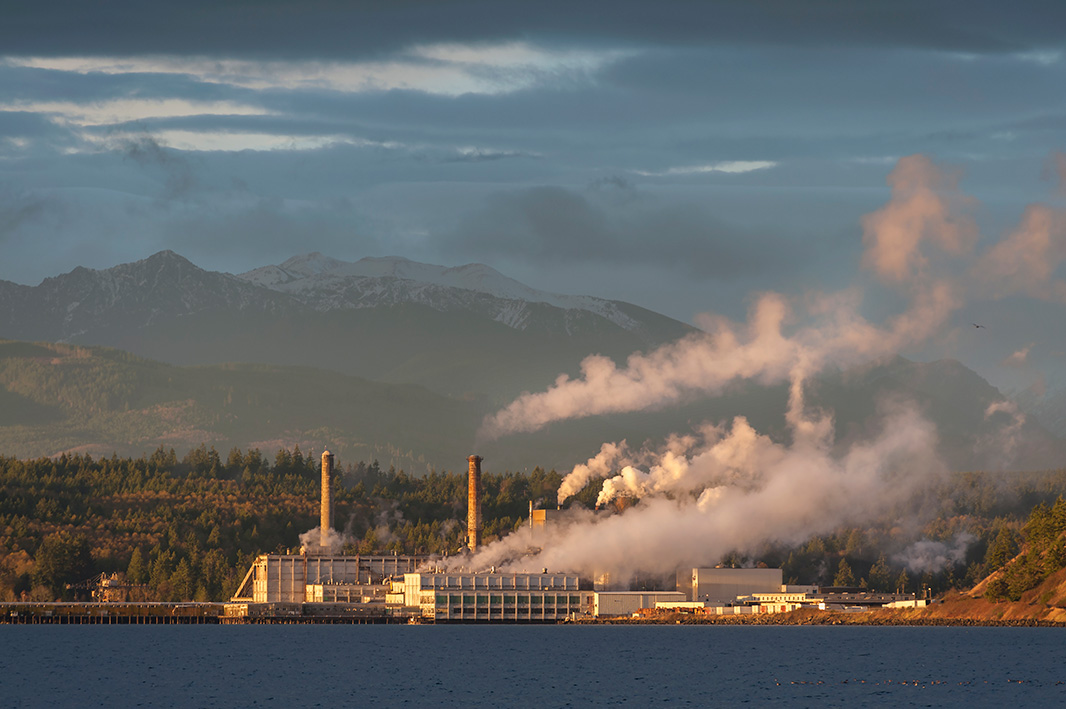 Pulp mill in Port Townsend, Wash.