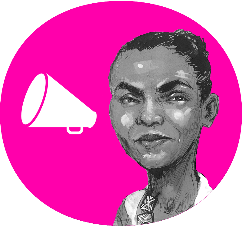Portrait of Environmental Activist Marina Silva
