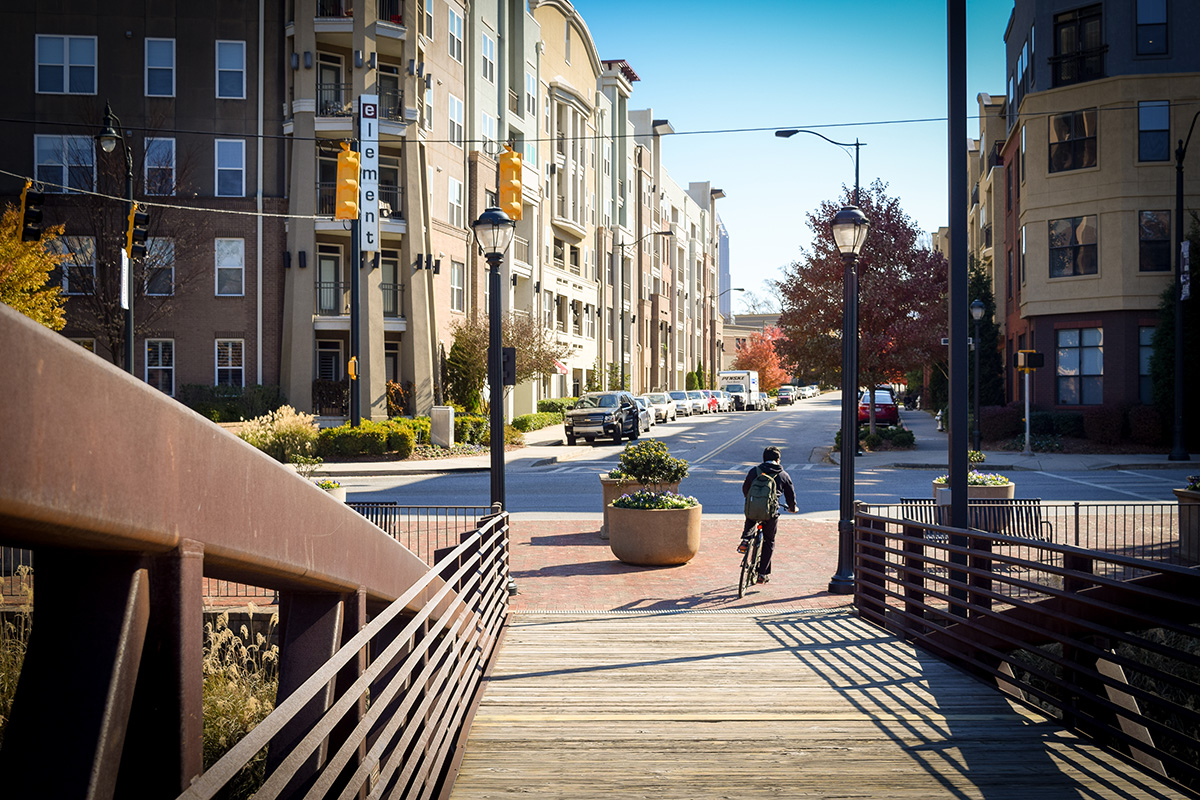 Once a contaminated brownfield, Atlantic Station is now a model for high-density, walkable urban development and served as the catalyst for the revitalization of an entire quadrant of Atlanta.