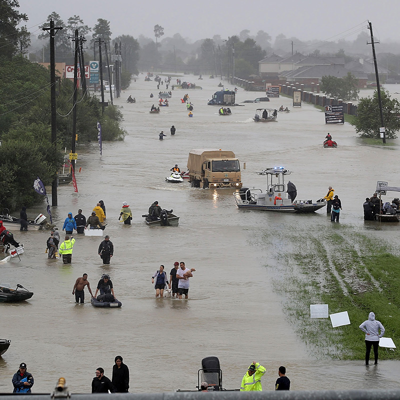 cenes from Houston, when Hurricane Harvey flooded the city in 2017.