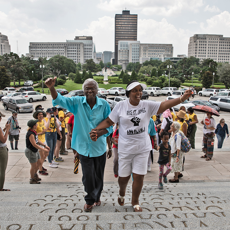 Lavigne led 'The March Against Death Alley,'' a two-week protest march in 2019, from the Reserve to Baton Rouge, to pressure industry and governments to stop the ongoing poisoning of the community.