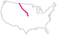 Map of the Keystone XL Pipeline.