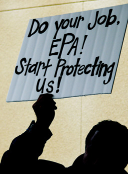 A resident of California's Central Valley -- notorious for its problems with particulate matter pollution -- calls on the EPA to protect public health at a clean air rally that coincided with EPA Administrator Lisa Jackson's visit to the area.