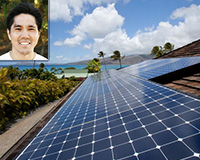 Solar panel installation in Hawai'i.