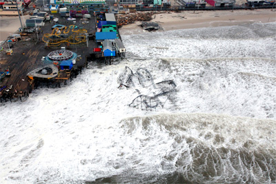 Aerial views show the devastation from superstorm Sandy to the New Jersey coast, Oct. 30, 2012. (U.S. Air Force / Master Sgt. Mark C. Olsen)