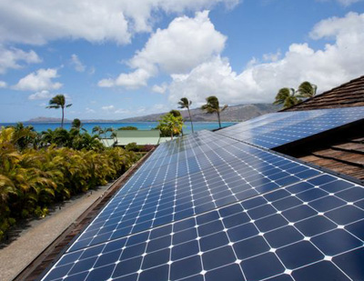 Solar panels in Hawai'i.