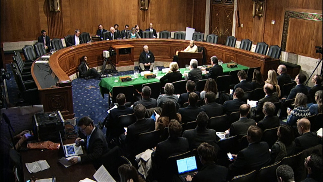 The Senate hearing.