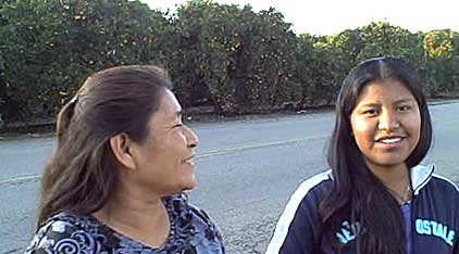 Photo of Genoveva and her mother.