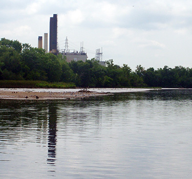 The Pepco Benning Road Power Plant, on the Anacostia River.