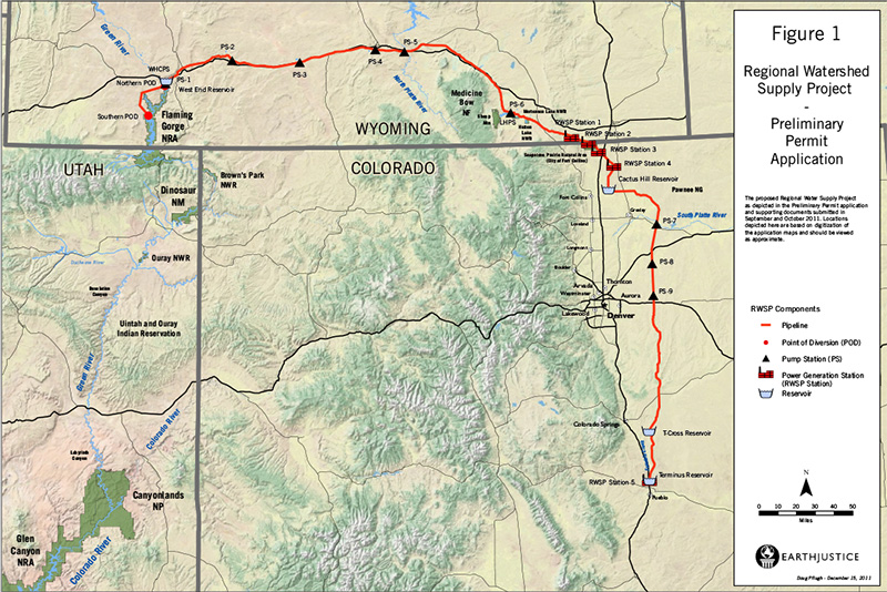 Map included in the Flaming Gorge Pipeline filing.